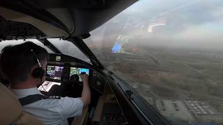 New! Cockpit View - EXTREME  Crosswind landing at Beijing