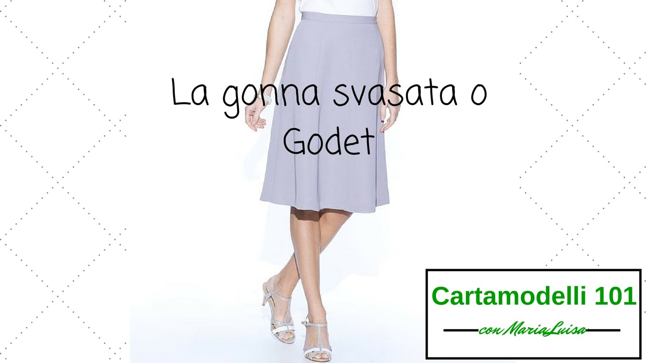 Super Gonna svasata o godet - Cartamodelli 101 con Maria Luisa - YouTube RE44