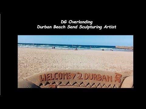 Durban Beach Sand Sculpture - DG Overlanding -  May 2021