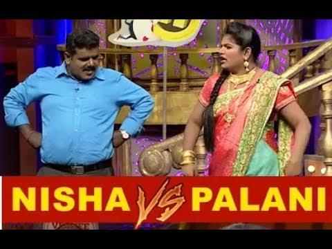 வயிறு குலுங்க சிரிக்க வைக்கும் பழனி,அறந்தாங்கி நிஷா    vijayTv KPY nisha and Palani StandUp Comedy