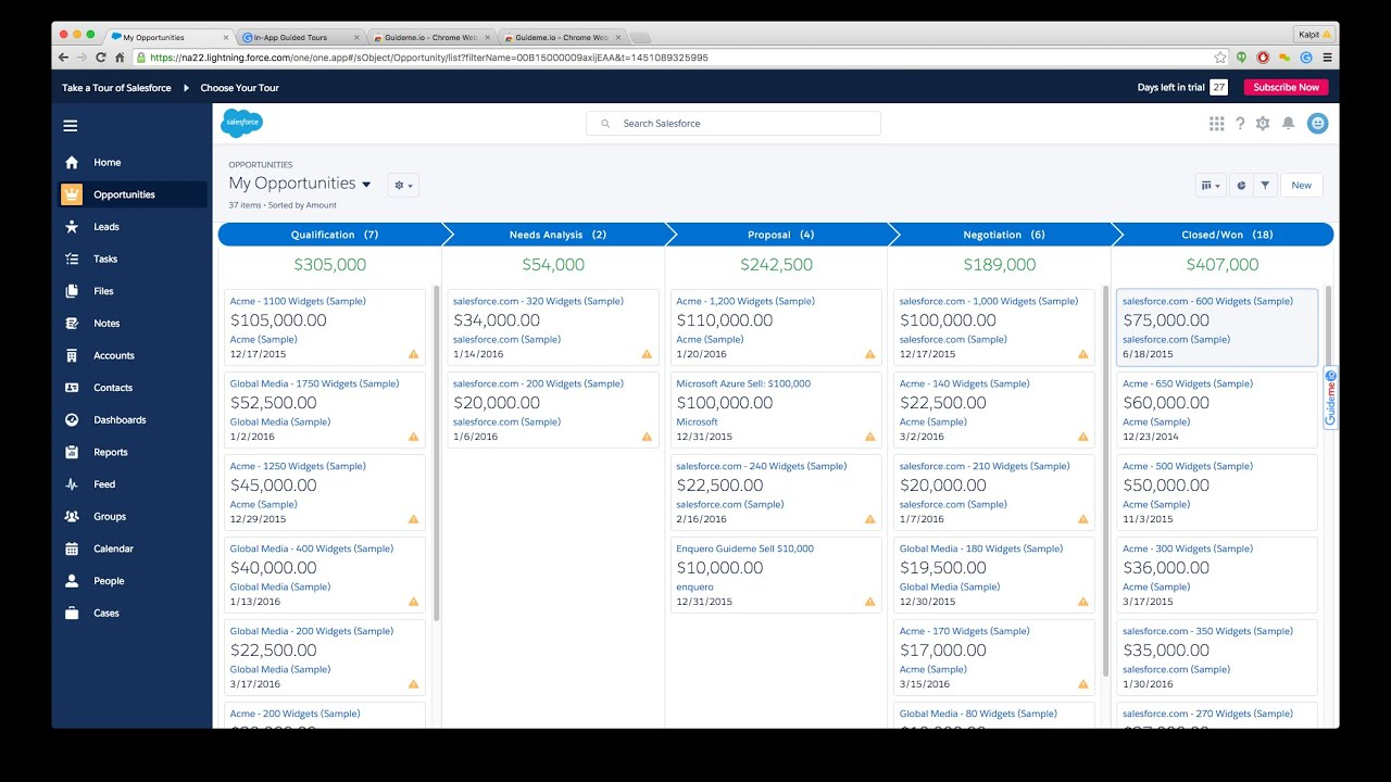 How to create and manage opportunities in Salesforce lightning ...