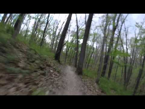 Mountain Biking at Sunderbruck Park, Davenport, IA   2014