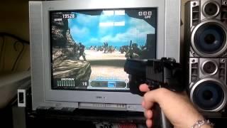 Time Crisis 3 Guncon 2 com Recoil PS2 Coleção