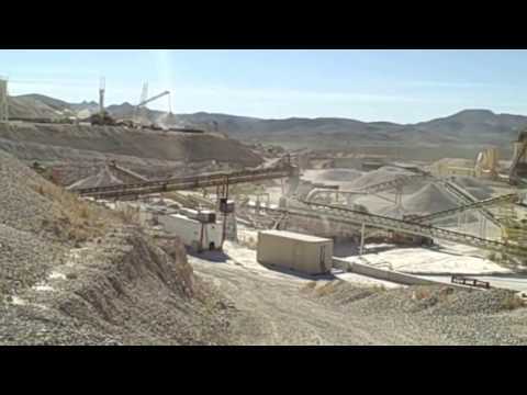 The processing plant at Sloan Quarry, an Aggregate Industries operation near Las Vegas