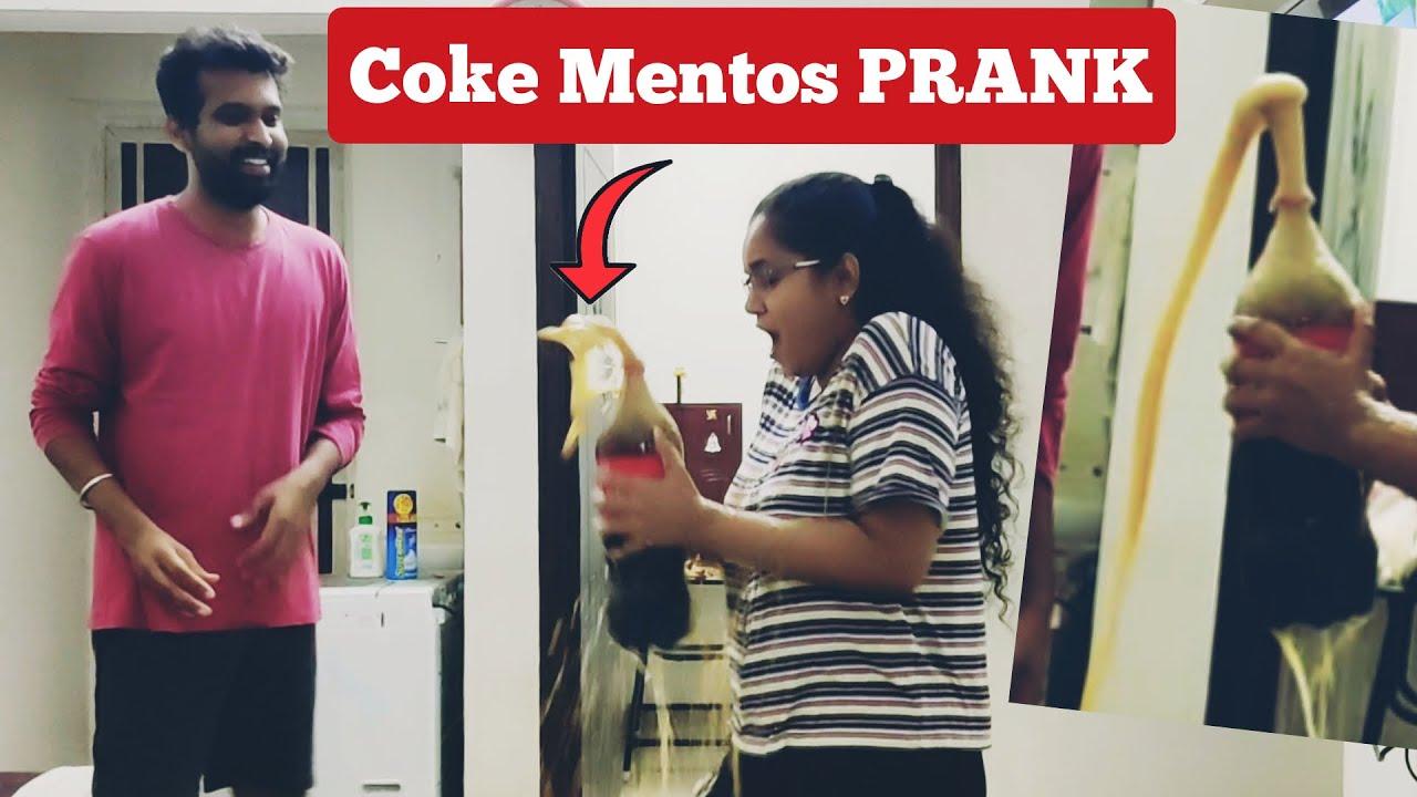 *PRANK* COCA COLA VS MENTOS ON WIFE! | Coca cola Hacks and Pranks |Adi and mahi