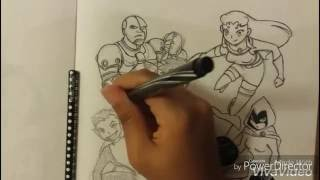 Drawing Teen Titans Characters