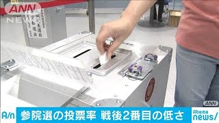 参院選投票率は選挙区48.80%比例代表は48.79%(19/07/22)