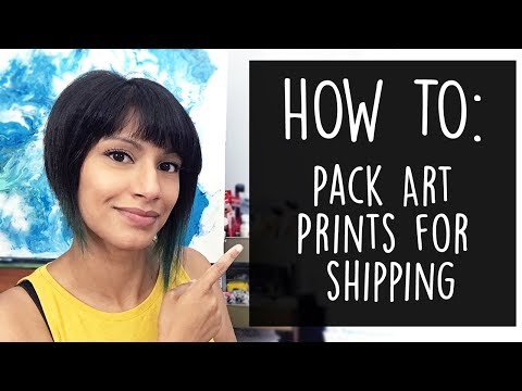 How To Pack Art Prints For Shipping Etsy Shop Youtube