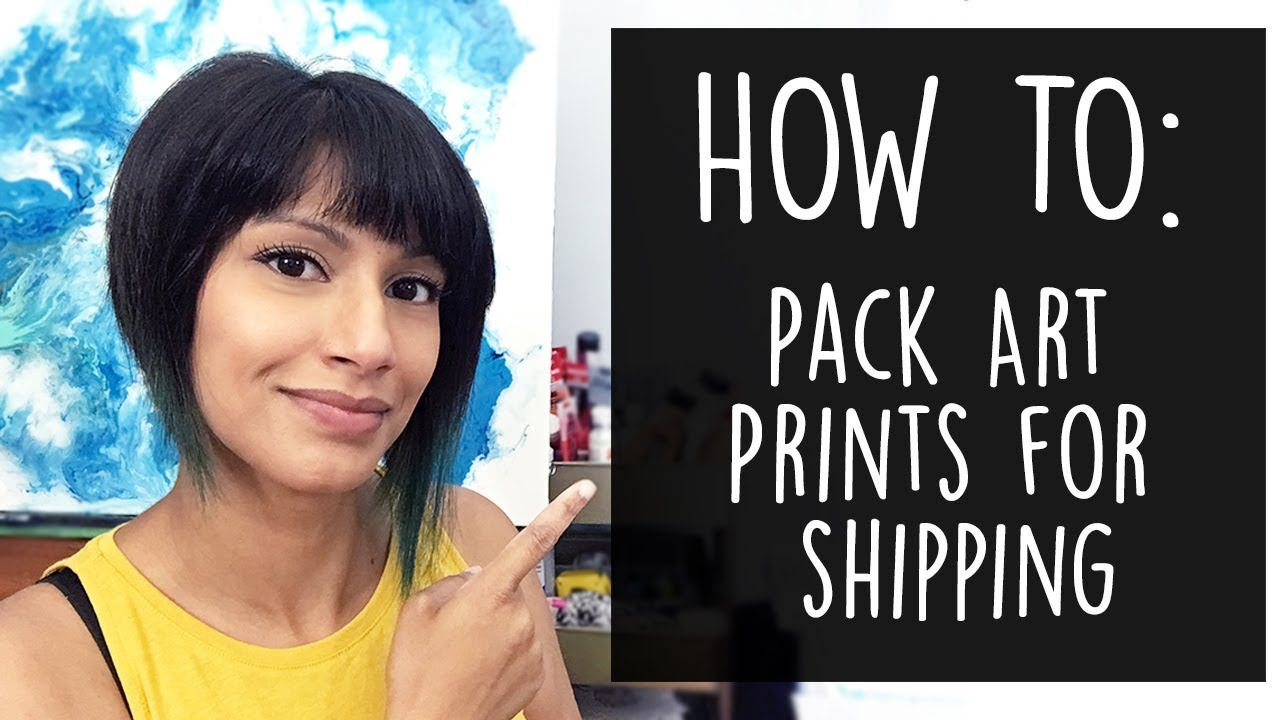How to pack art prints for shipping - Etsy Shop - YouTube