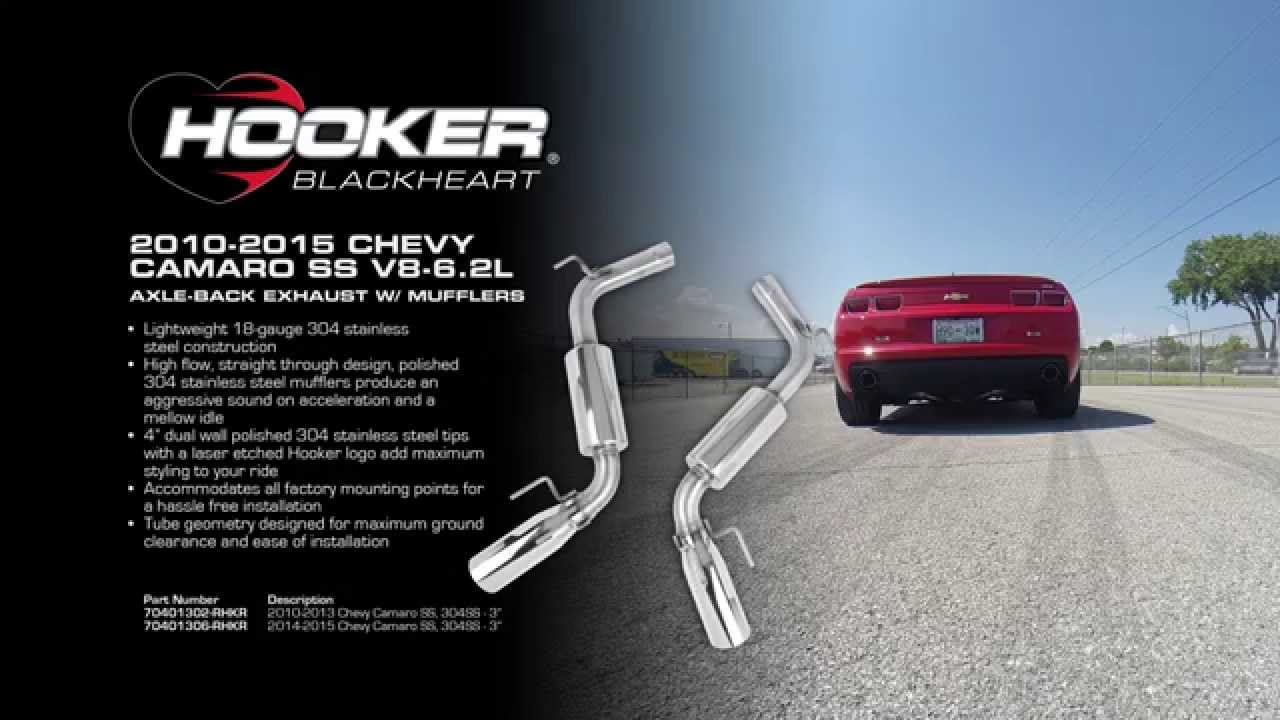 2010 2015 chevy camaro ss v8 6 2l axle back exhaust system with mufflers