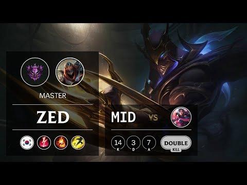 Zed Mid Vs Irelia - KR Master Patch 9.11