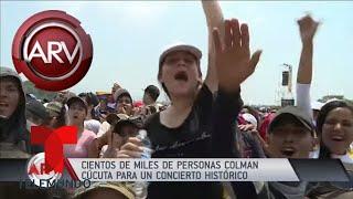 Asistentes a Venezuela Aid Live manifiestan su emoción | Al Rojo Vivo | Telemundo