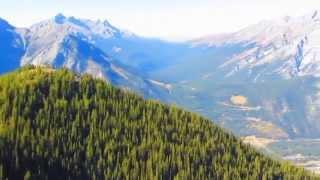 Views From Sulphur Mountain Near Banff Canada