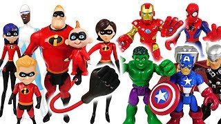 Mosters appeared! The Incredibles 2 and Marvel Avengers Hulk, Spider Man! Go! - DuDuPopTOY