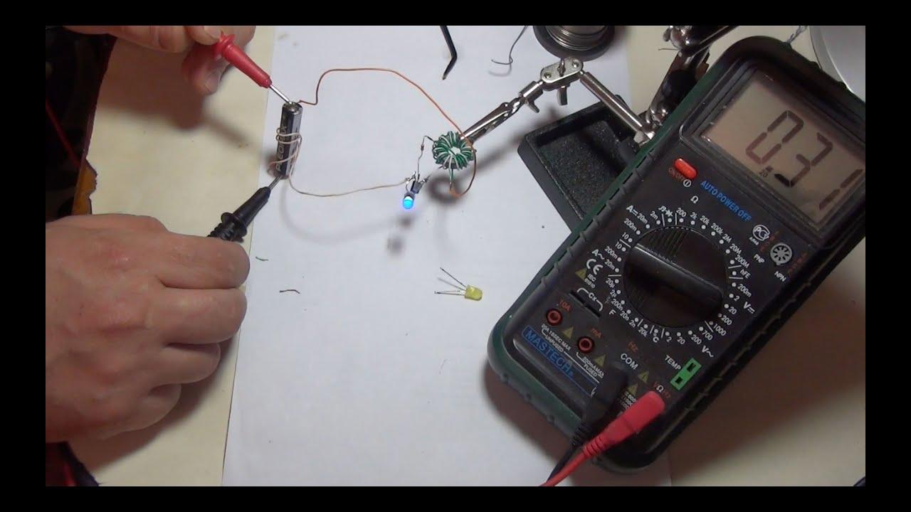 драйвер питания светодиодов от 1.5в схема
