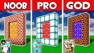 Minecraft - Noob Vs Pro Vs God  Family Portal Adventure In Minecraft Animation