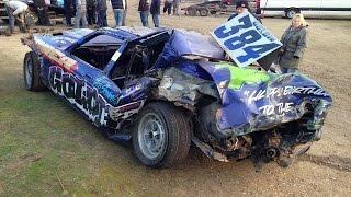2015 banger racing crash compilation best of pf racing media