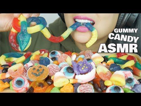ASMR HALLOWEEN CANDY & GUMMY (CHEWY EATING SOUNDS) NO TALKING | SAS-ASMR