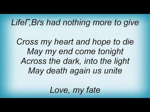 Sentenced - Cross My Heart And Hope To Die Lyrics