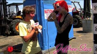 Jeffree Star Message To Haters - Warped Tour '09 BVTV