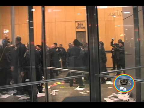 JS: Baruch College. CUNY peaceful students arrested by the NYPD. 11-21-11