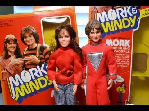 "Mattel 9"" MORK & MINDY DOLL/ FIGURE! Talking Spacepack! Robin Williams Pam Dawber"