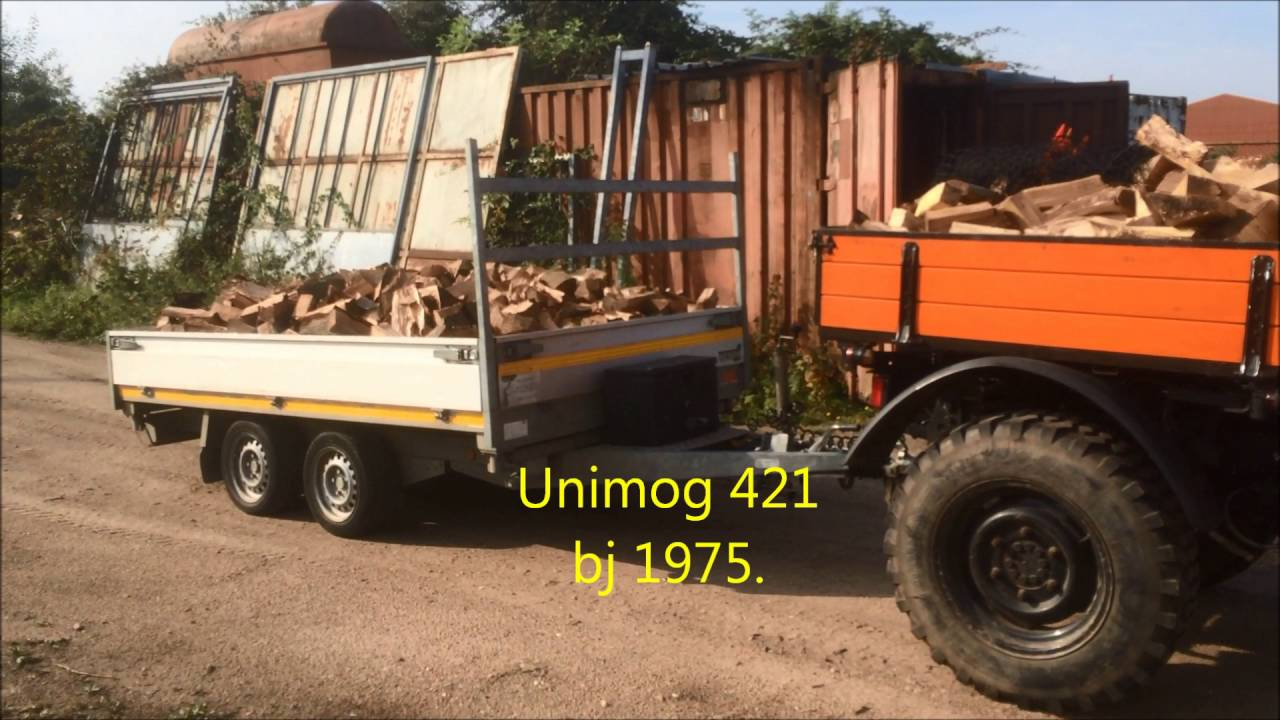 unimog 421 haardhout transporteren youtube. Black Bedroom Furniture Sets. Home Design Ideas