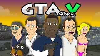 Repeat youtube video ♪ GRAND THEFT AUTO 5 THE MUSICAL - GTA V Rap Parody