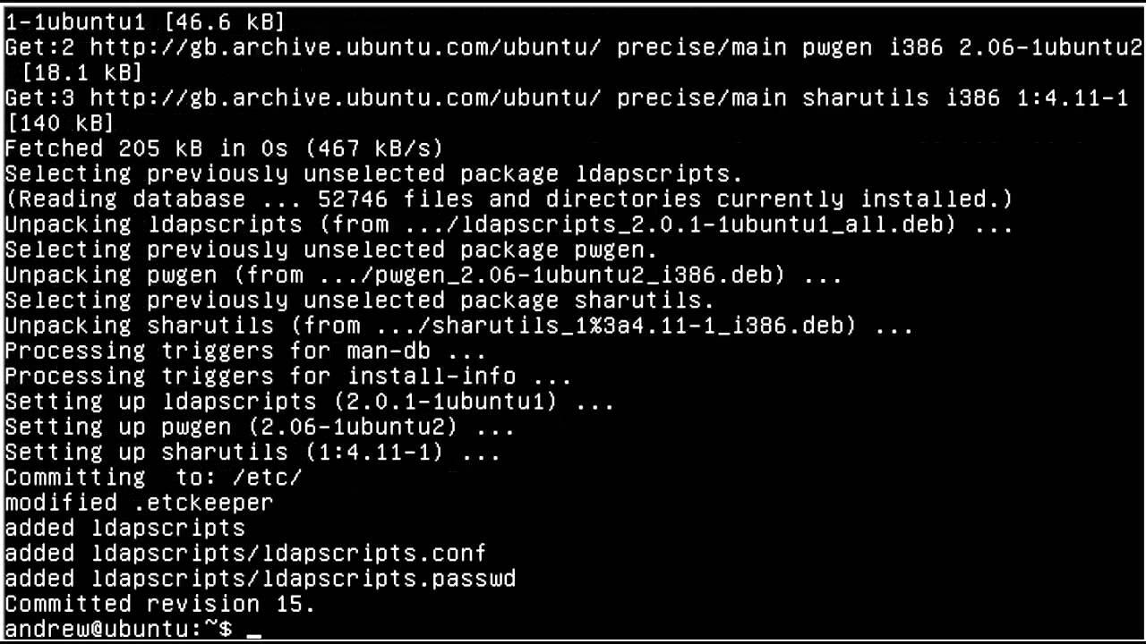 UBUNTU 12 04 Managing openLDAP Users
