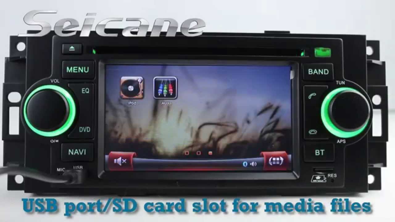 oem 2002 2003 2004 dodge intrepid in dash navigation radio dvd player with bluetooth usb tv ipod aux [ 1280 x 720 Pixel ]