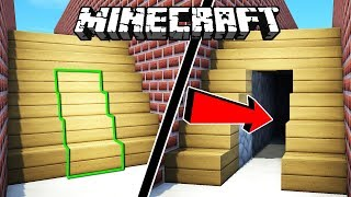 ¡LA HABITACIÓN SECRETA IMPOSIBLE DE ENCONTRAR EN MINECRAFT! 😁TUTORIAL MINECRAFT PUERTA EN ESCALERA