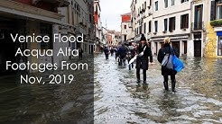 Venice Historical Flooding (Acqua Alta) Footages, Nov 2019 [4K HD]