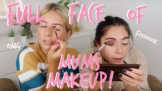 FULL FACE OF OUR MUMS MAKEUP! LOL | Sophia and Cinzia