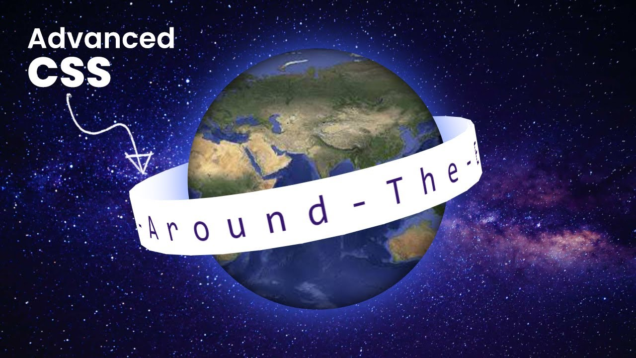 3D Rotating Text Around The Earth | CSS Animation Effects