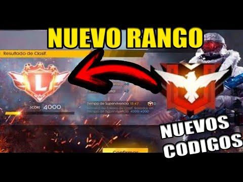 Ya Salió! NUEVO RANGO *LEGENDARY* EN FREE FIRE Y NUEVOS CÓDIGOS EXCLUSIVOS / SOY PEYUCO