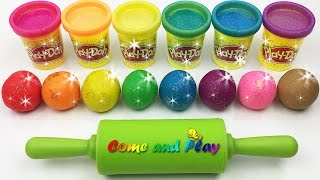 Learn Colors with Sparkling Play Doh Balls and Animal Molds Fun & Creative for Kids