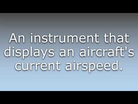 What does Airspeed indicator mean?