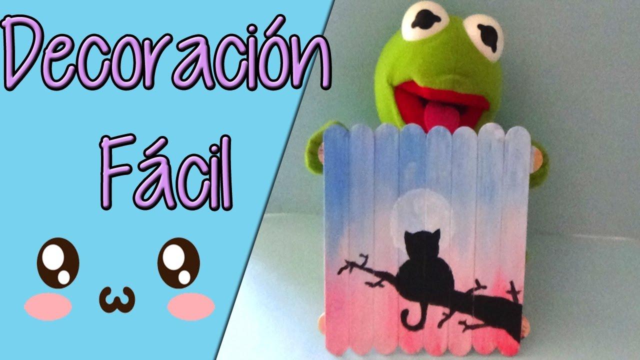 Ideas para decorar f ciles pintura con bajalenguas easy - Ideas faciles para decorar ...