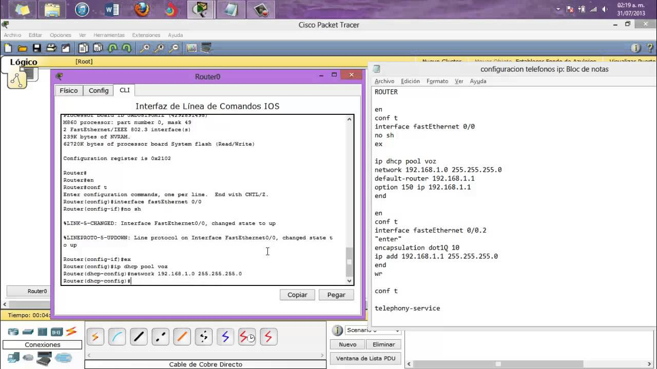 Tutorial Red Vlan Con Telefonos Ip Packet Tracer Youtube Configure Terminalinterface Range Fa0 4fa0 24switchport Mode