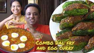 Mango Dal   Bittermelon Fry and egg curry Great Combo