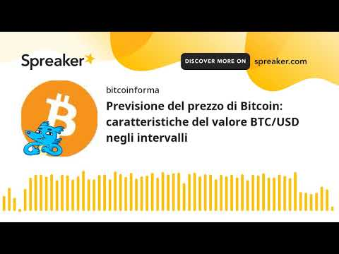 bitcoin al mercato usd