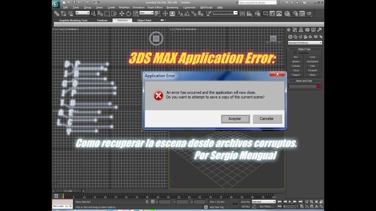 3ds Max Application Error Como Recuperar La Escena Desde Archivos Corruptos