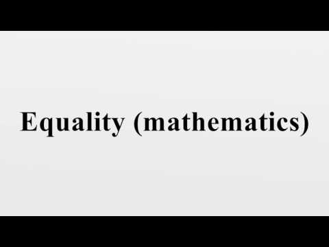 Equality (mathematics)