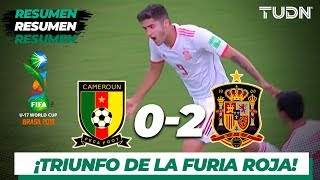 Resumen y Goles | Camerún 0 - 2 España | Mundial Brasil Sub 17 - G-E | TUDN
