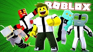 I TURNED THE BEN 10 ON ROBLOX AND USED THE WATCH OMNITRIX!!