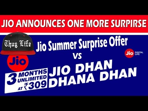 309 offer of JIO's  Dhan Dhana Dhan Plan | 1GB Daily Data |  Explained