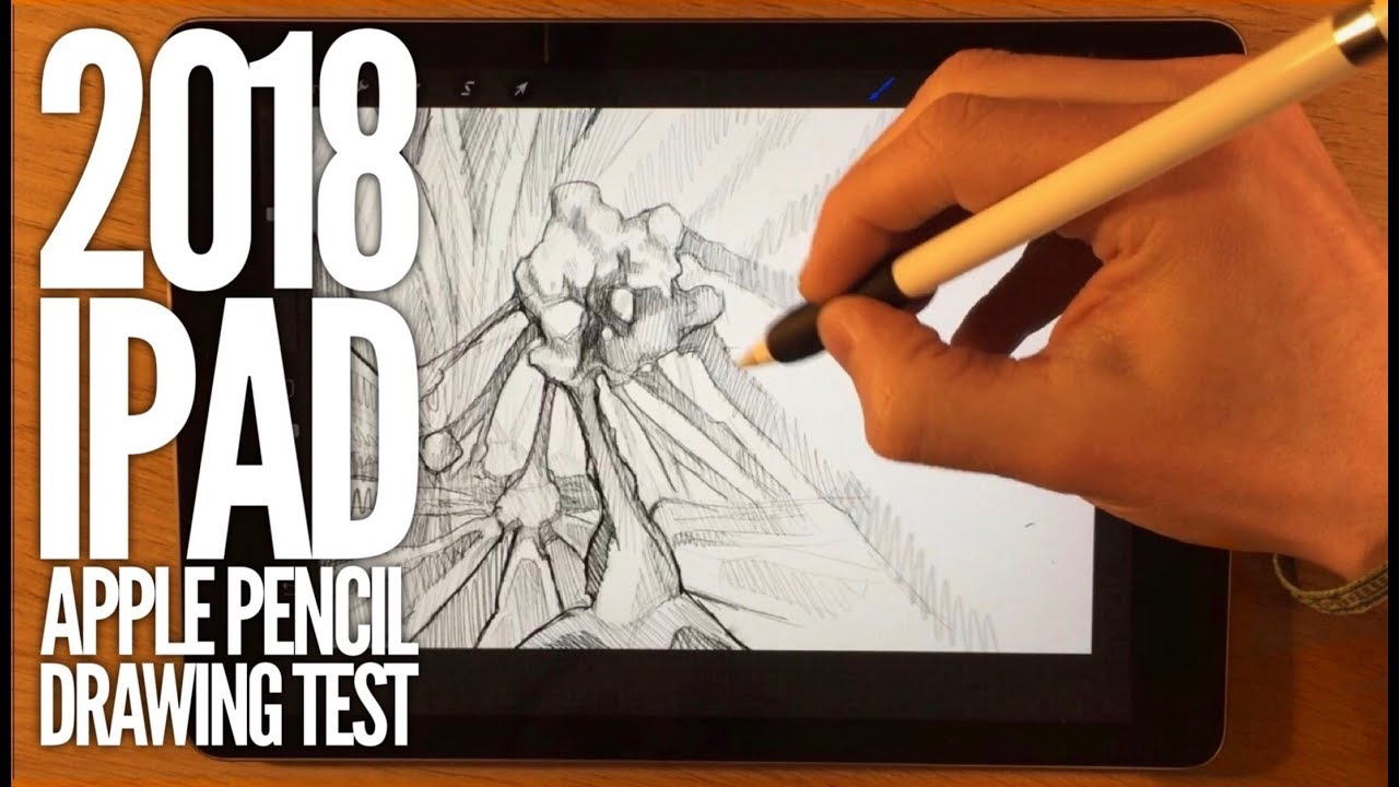 2018 ipad apple pencil drawing test and artists opinion