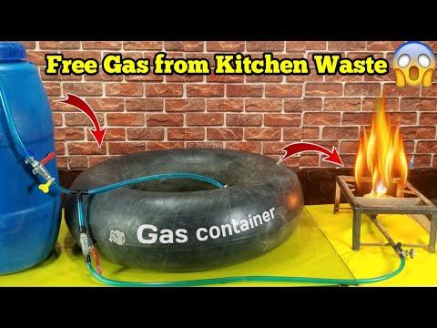 Pembuatan biogas dengan sisa sayuran part 1.