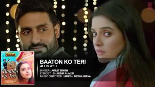 'Baaton Ko Teri' Full AUDIO Song   Arijit Singh   Abhishek Bachchan, Asin   T Series