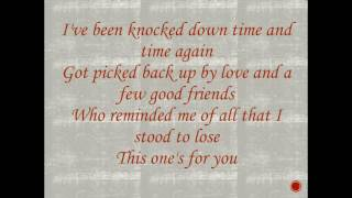 This One's For You- Luke Combs Lyrics